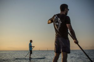 Bootcamp paddle boarding fitness session
